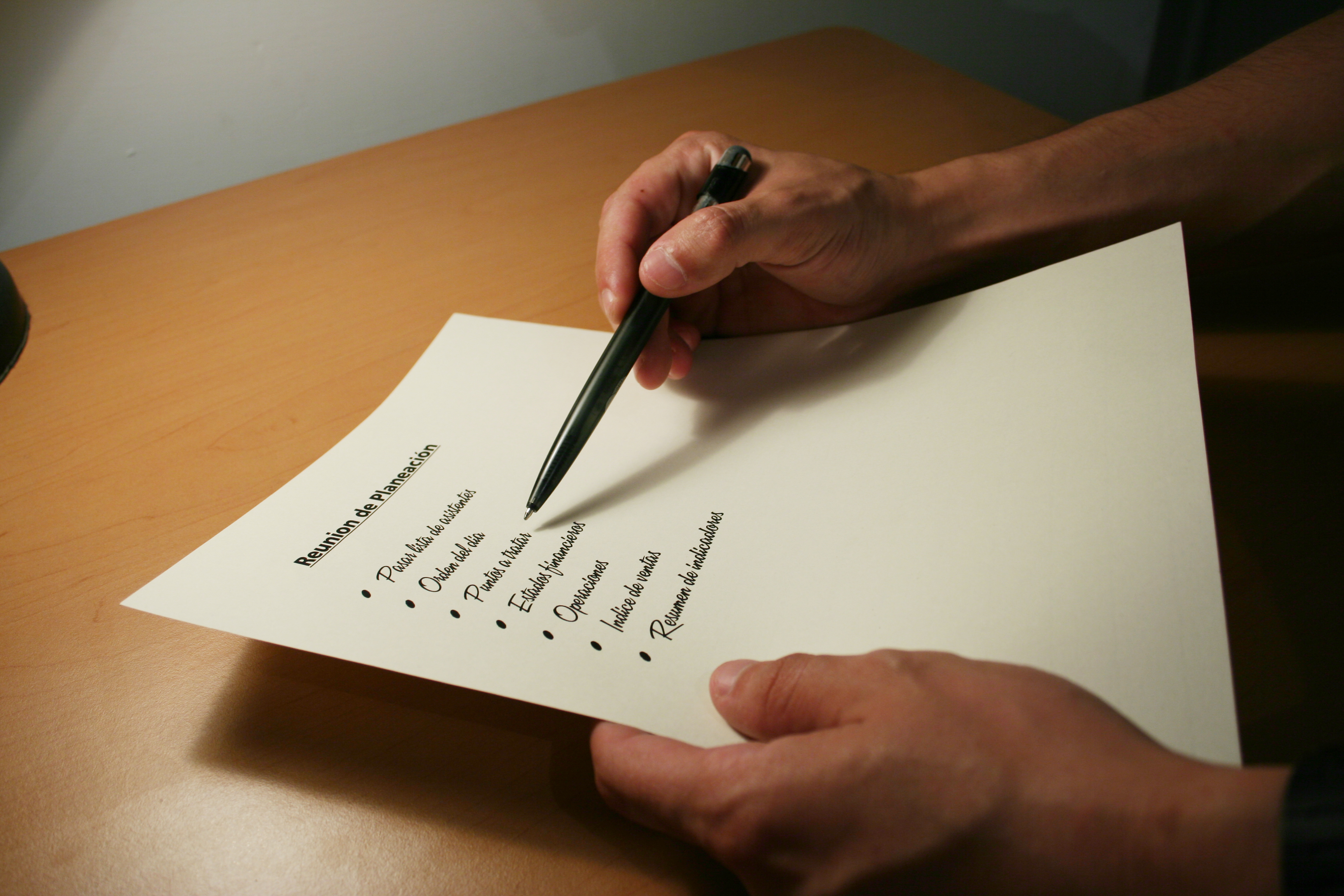 List of most important tasks
